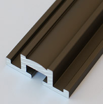 Aluminum Extrusion With Architectural Bronze Finish for Glass Front Niches