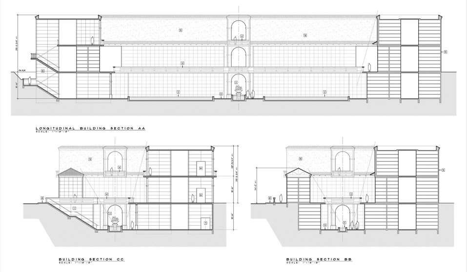 Sample Mausoleum Building Design Section and Crypts by CMC