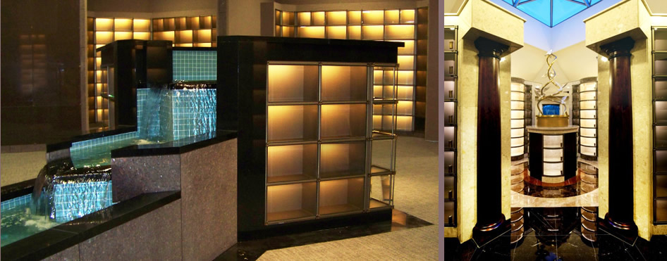 Elegant Glass Front Niches From CMC